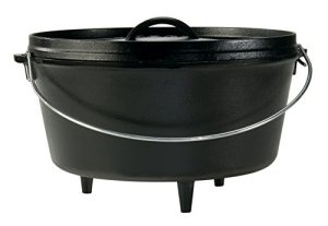 Lodge Seasoned Cast Iron Deep Camp Dutch Oven – 12 Inch / 8 Quart
