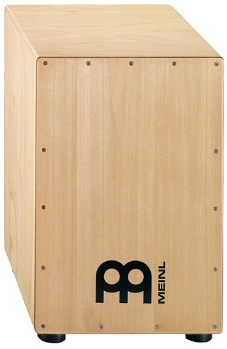 Meinl Cajon Box Drum with Internal Metal Strings for Adjustable Snare Effect - NOT MADE IN CHINA - Hardwood Full Size, 2-YEAR WARRANTY, HCAJ1NT)