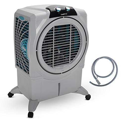 418VO8dyrvL - Symphony Sumo 75 XL Powerful Desert Air Cooler 75-litres, Plus Air Fan, Easy-Fill, 3-Side Honeycomb Pads, i-Pure Console & Low Power Consumption (Grey)