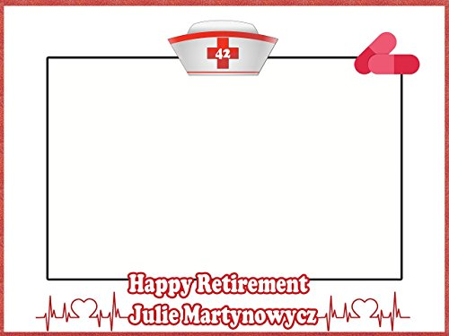 AMAZON] Custom Retirement Photo Booth Frame Prop – Size 36×24, 48×36 ...