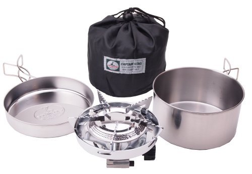 M-7903 with Cooker Set Bag with a Small Stove Gas Burner Piezo Ignition System Captain Stag by...
