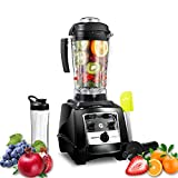 Blender, 64oz Countertop Blender for Shakes and Smoothies Making, 1800-Watt Base, Professional Electric Food Blender with 8 Blades & 10 Speeds & One Touch Cleaning, Germix