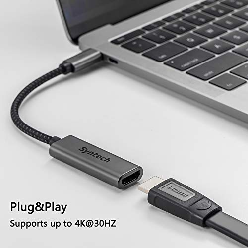 418ZHY6Z%2BoL - USB C to HDMI Adapter, Syntech Thunderbolt 3 to HDMI Adapter Compatible with MacBook Pro 2019/2018/2017, MacBook Air, iPad Pro 2018,Samsung Galaxy S10/S9,Dell XPS 13/15 and More