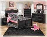 Product review for Ashley Jaidyn Twin Bedroom Set with Youth Poster Bed Dresser Mirror and Chest in