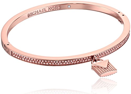 Michael Kors 'Fashion Logo Love Rose Gold-Tone Hinged Padlock Charm Bracelet