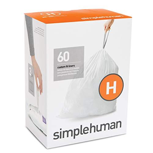 simplehuman-Code-H-Custom-Fit-Drawstring-Trash-Bags-30-35-Liter-8-9-Gallon-3-Refill-Packs-60-Count