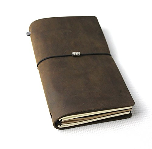 PASSION Vintage Handmade Refillable Leather Travelers Journals Diary geniune leather notebook diary notepad notebook handmade Traveler's Notebook travels (12*21cm)