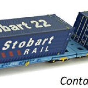 Dapol 2F-053-005 Megafret Wagon Set 3368 490 9 354-5 418jcU 2BiFBL