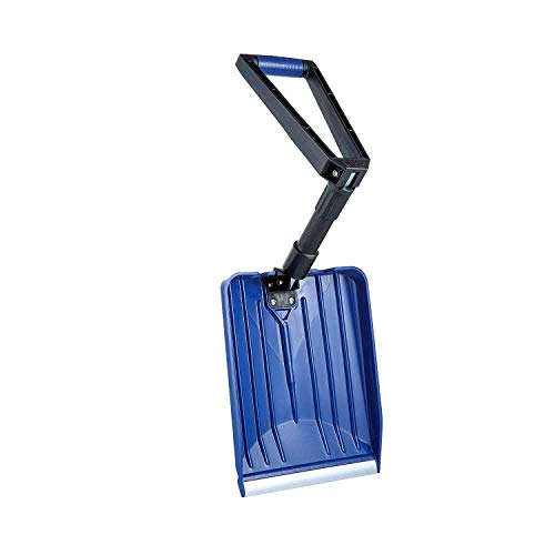 ORIENTOOLS Collapsible Snow Shovel with D-Grip Handle and Durable Aluminum Edge Blade, Portable Snow Shovel for Your Car, Truck, Recreational Vehicle, etc. (Blade 11')