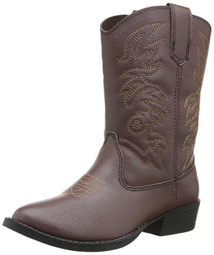 Deer Stags Ranch Kids Cowboy Boot (Toddler/Little Kid/Big Kid), Dark Brown, 4 M US Big Kid