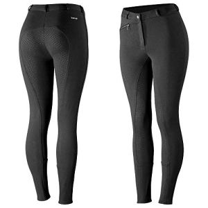 HORZE Active Women's Horse Riding Full Seat Breeches | Silicone Grip Horse Riding Pants with Front Pocket
