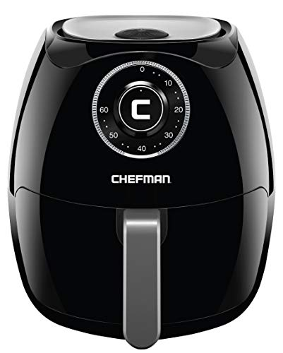 Chefman 6.5 Liter/6.8 Quart Air Fryer with Space Saving Flat Basket Oil Hot Airfryer with Dishwasher Safe Parts 60 Minute Timer and Auto Shut Off, BPA Free, Family Size X-Large Manual