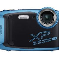 Fujifilm FinePix XP140 Waterproof Digital Camera w/16GB SD Card - Sky Blue
