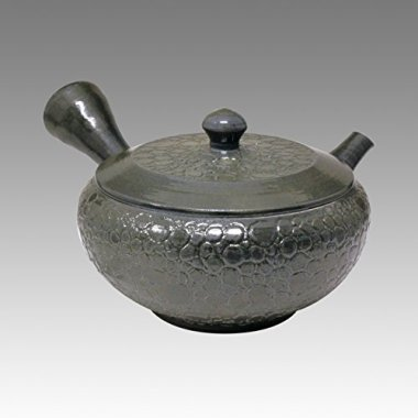 TOKYO MATCHA SELECTION - Tokoname Kyusu teapot - JUSEN - Glaze Foaming 150cc/ml - ceramic fine mesh with wooden box [Standard ship by EMS: with Tracking & Insurance]