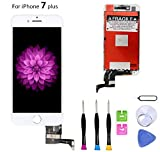 Compatible with iPhone 7 Plus Screen Replacement (5.5 inch White), LCD Digitizer 3D Touch Screen Assembly Set with Touch Function, Repair Tools and Professional Replacement Manual Included