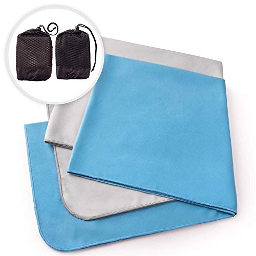 The Friendly Swede Microfiber Bath Towels for Excercise, Workout or Running, 2-Pack, Super Absorbent and Fast Drying Towels