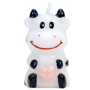 Birthday Candles Gifts Cake Decorations Cute Cartoon Animal Party Decorations for Birthday Party (Little Cow) 418vmJEauJL