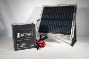 12V 5AH Replaces Power Sonic PS1250 + 12V Solar Panel Charger – Mighty Max Battery brand product