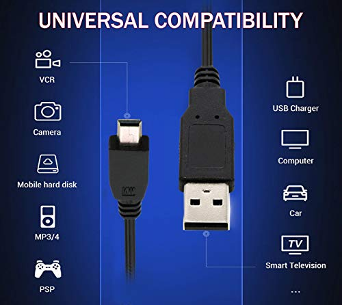 Storite USB 2.0 A to Mini 5 pin B Cable for External HDDS/Camera/Card Readers(45cm -1.47feet -0.45m) 7