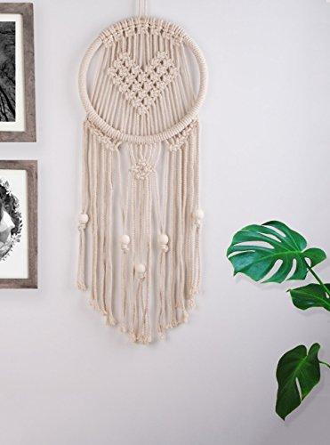Heart Shaped Woven Macrame Wall Hanging Dream Catcher