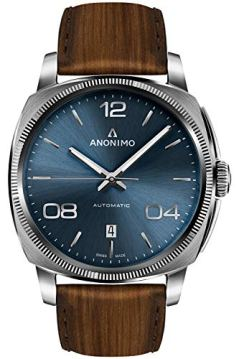 Anonimo epurato Mens Analog Automatic Watch with Leather Bracelet AM400001103W22