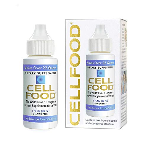 Cellfood Liquid Concentrate, 1 oz. Bottle - Original Oxygenating Formula Containing Seaweed Sourced Minerals, Enzymes, Amino Acids, Electrolytes, Superior Absorption - Gluten Free, GMO Free