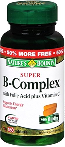 Natures-Bounty-B-Complex-with-Folic-Acid-Plus-Vitamin-C-Tablets-150-ea