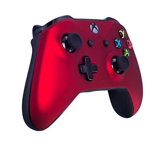 419AXVWTdPL - Xbox One S Wireless Controller for Microsoft Xbox One - Soft Touch Red X1 - Added Grip for Long Gaming Sessions - Multiple Colors Available