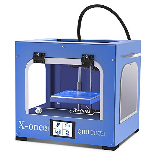 QIDI TECHNOLOGY New Generation 3D Printer:X-one2 (Blue color version),Metal Frame Structure,Platform Heating