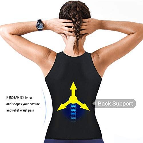 Cimkiz Women Sauna Sweat Vest Neoprene Sauna Suit Waist Trainer Corset for Women Body Shaper Sweat Tank Top Vest 4