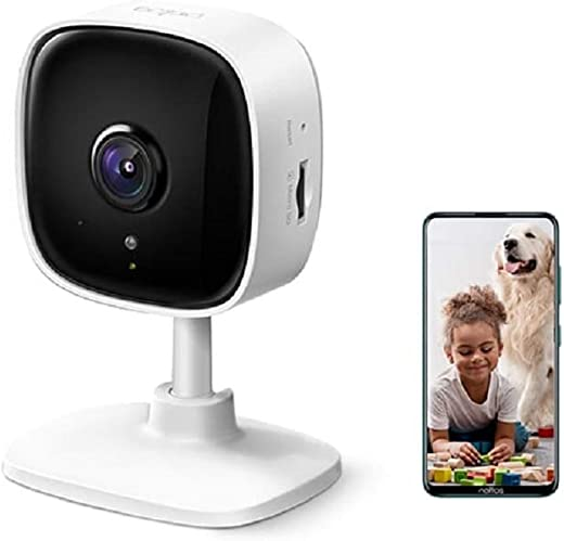 TP-Link Tapo C100 IP Home Security Wi-Fi Camera 1920 x 1080 Pixels, Night Vision, Wireless WiFi Indoor Spy Cam with Two-Way Audio, Works with Alexa