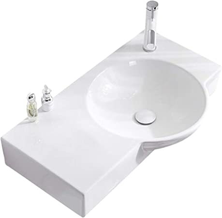 Wash Stands Vanity Units Bathroom Sinks Large Capacity Wall Mounted Wash Basin With Faucet Ceramic Corner Wash Table Home Toiletries Easy To Clean Space Saving Gift Amazon Co Uk Kitchen Home