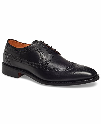 Anthony Veer Men's Regan Oxford Wingtip Leather Shoes in Goodyear Welted Construction (11 D(M) US, Black)