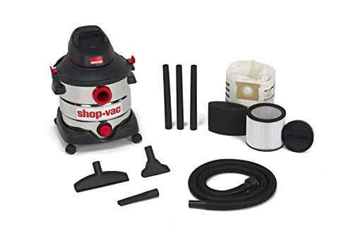 Shop-Vac 8 Gallon 6.0 Peak HP Stainless Wet Dry Vacuum, Black