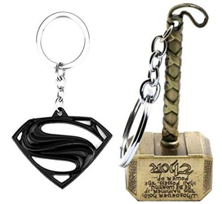 Key Rings With Marvel Avengers Superheros (Thor, Captain America)