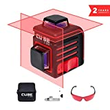 ADA Cube 2 x 360 Professional Edition, Laser Level Kit, Crossline Self-Leveling Laser Level 20 meters (65 feet) and 70 meters (229 feet With Laser Detector) (A00449)