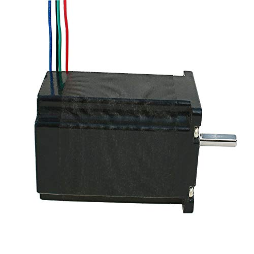 Nema-23-Stepper-Motor-28A-19Nm-269ozin-76mm-Length-with-635mm-Diameter-of-Shaft-for-CNC-Mill-Lathe-Router