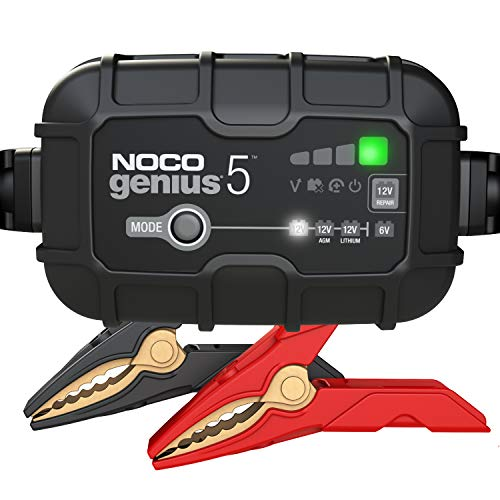 NOCO-GENIUS5-5-Amp-Fully-Automatic-Smart-Charger-6V-and-12V-Battery-Charger-Battery-Maintainer-Trickle-Charger-and-Battery-Desulfator-with-Temperature-Compensation