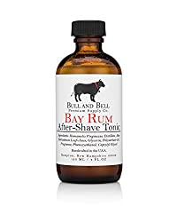Bull and Bell Aftershave Tonic - Handmade in USA Using All Natural Ingredients Including Witch Hazel - 4oz - Best Aftershave for Sensitive Skin (Bay Rum)  Image