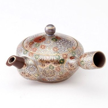 Kutaniyaki SakaiHyakkaen Fusion Of Kutani Chinaware And Banko Chinaware Teapot Small It Is A Princess Feeling A Feudal Lord Of Kaga