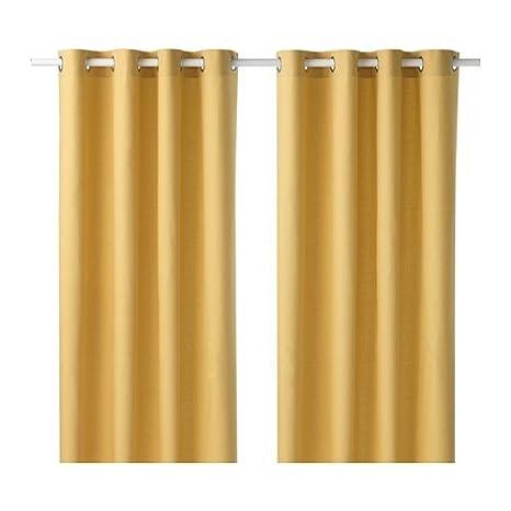 Ikea Mariam Tenda Coppia In Giallo 100 Cotone 145 X 300