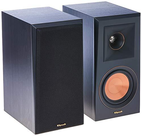 Klipsch RP-500M Bookshelf Speakers (Pair) (Ebony) (Renewed)