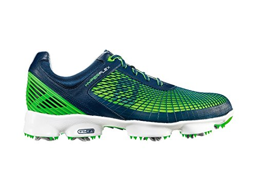 FootJoy New Men's Hyperflex 51007 Golf Cleat Navy/Green 10.5 M