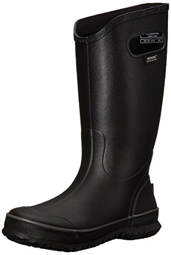 Bogs Men's Waterproof Rubber Rain Boot, Black, 10 D(M) US
