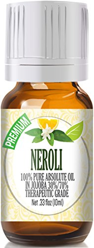 Neroli Essential Oil - 100% Pure in Jojoba (30%/70% Ratio) Best Therapeutic Grade - 10ml