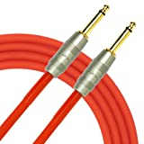 Kirlin Cable IM-201PRG-20/RDF - 20 Feet - 1/4-Inch Straight Premium Instrument Cable Red PVC Jacket
