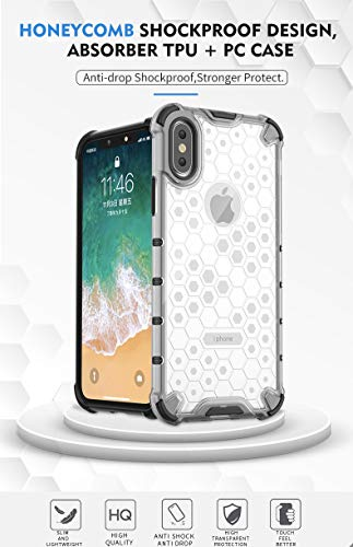 Soezit TPU+PC Dual Layer Honeycomb Pattern Shockproof Back Case Cover for Oppo F11 Pro - Black 5