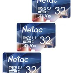 41ADolQSt3L - Netac 32GB Micro SD Memory Card 3 PCs, MicroSDHC Card UHS-I, 90/10MB/s(R/W), 600X, C10, U1, A1, V10, Full HD, TF Card for Camera, Smartphone, Security System, Drone, Dash Cam, Gopro, Tablet
