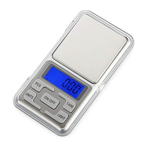 Sammid Digital Scale, 300g/0.01g Mini Pocket Multifunction Portable Jewelry Scale LCD Gold Electronic Diamond Balance Scale Precision Weighing Tool High Accuracy Kitchen Scale Weighing Scales