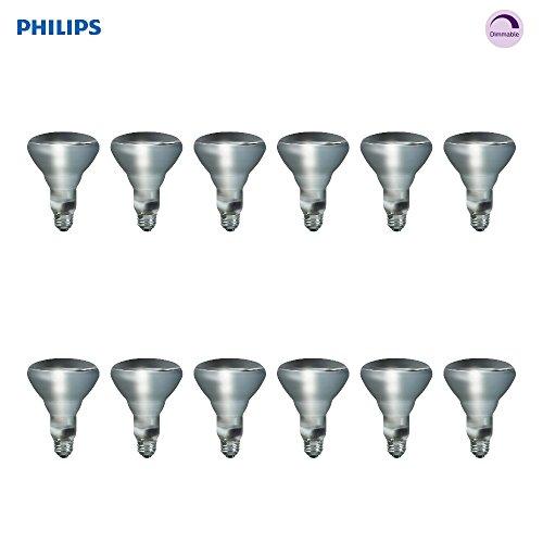 Philips Indoor BR30 Flood Light Bulb: 2710-Kelvin, 65-Watt, Medium Screw Base, Soft White, 12-Pack